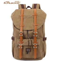 Wholesale- Big Brands same style KAUKKO Thick Canvas Material Vintage  Backpacks Women Men Travel creeper School Backpack Laptop Bags 203dccf2d289e