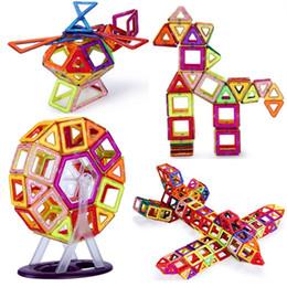 Discount kids magnetic blocks - 18-91pcs Mini Magnetic Designer Toy Kids Educational Toys Plastic Creative Bricks Enlighten Building Blocks gifts for ch