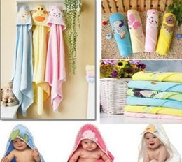 Kids Wrap Towel NZ - Baby Soft Cotton Hooded Warm Kids Washcloths Bath Towel Infant Wrap