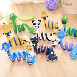 Barato Suporte De Cabo De Animal-Cute 3D cartoon animal fone de ouvido fio cabo cabo winder organizador titular para iphone 7 6s Samsung headphone cabo USB