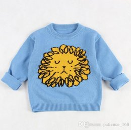 f2212c5352af Lion sweaters online shopping - INS styles new hot selling Girl kids autumn  winter long sleeve