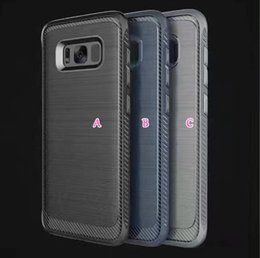 Wholesale Shockproof Brushed Hybrid Hard Plastic TPU Case For Galaxy S8 Plus Armor Luxury in Layer Rugged Defender Skin Cover Duty Protection