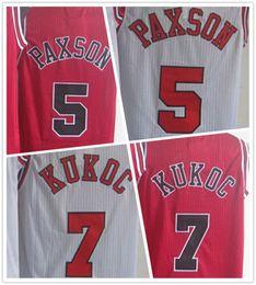 957a1385d Wholesale Throwback 5 John Paxson Jersey Home Away Red White 7 Toni Kukoc  Basketball Jerseys Vintage Vintage John Paxson Chicago Bulls ...