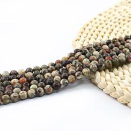 abfa6a32a809 Natural Ocean Jasper Beads piedras preciosas redondas sueltas semi  preciosas perlas venta al por mayor 4