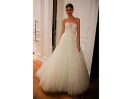 $enCountryForm.capitalKeyWord UK - Ball gown Bridal Gown COR-1059 Strapless Lace Top Appliques Tulle Custom Made Wedding Dress Robe De Mariee