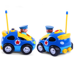 remote control rc cartoon police car music light radio control toy for toddlers kids children free shipping - Cartoon For Toddlers Free Online