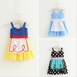 Robes De Style Charmant Pas Cher-3 style 2017 Princesse nouveaux arrivants filles belle Polka Dot papillon noeud fille coton robe casual fashion girl robe livraison gratuite