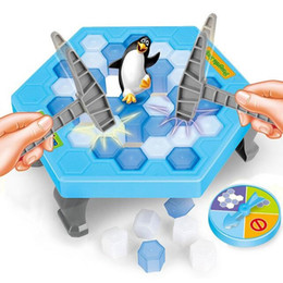 penguin puzzles NZ - Save Penguin Knock Ice Block Interactive Family Game Penguin Trap Puzzle Table Games Balance I Broken Ice Cubes Puzzle Toys Desktop Game