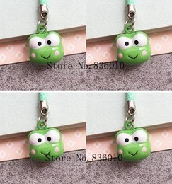 $enCountryForm.capitalKeyWord Canada - Wholesale Lot Cartoon frog Charms Bell Pendant With Strap Cellphone Key Chains Toy pendant