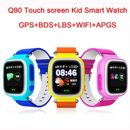 $enCountryForm.capitalKeyWord Canada - Wholesale- Child Q90 Touch Screen WIFI Smart baby Watch Location Finder Device GPS Tracker watch for Kids Anti Lost Monitor smartwatch