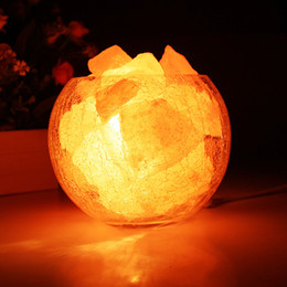 Discount diy crystal lamp - Himalayan lonic crystal salt table lamp new modern light iron lampshade for living room Salt Lamp Light-Dimmer