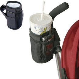 Wholesale Bicycle Cup Holder Canada - Baby Stroller Cup Holder Special Drink Parent Mug Waterproof Design Cup Bag Strollers Bicycle Universal Bottle Bags for Baby