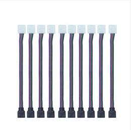 Großhandel 4pin RGB Led-Steckverbinder Draht Buchse Kabel für 3528/5050 SMD Nicht-Wasserdichte RGB Led Streifen Licht