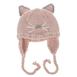 $enCountryForm.capitalKeyWord UK - Newborns Baby Cute Cartoon Cat Ears Hat Kids Autumn Winter Warm Knitted Earflaps Cap Girls Boys Casual Crochet Earmuffs Cap Beanies