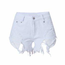 Сексуальные белые короткие джинсовые шортики — 8