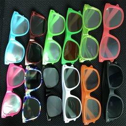 Различные цвета / дифракционные линзы / логотип печати чистый запас дешевые цена высокое качество 3D рейв Призма дифракционные очки пластиковые