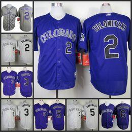 39fea94e885 ... Mens Colorado Rockies 2 Troy Tulowitzki 3 Michael Cuddyer 5 Carlos  Gonzalez White Grey Purple Stripe ...