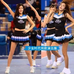 Vestidos Rojos De La Muchacha Baratos-Red Girls 'Generation Cheerleading Dress Up Viste a baloncesto Lacqueron Aerobics Danza rendimiento rendimiento vestido