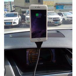 Atacado-suporte do carro cabo de carregamento para a apple car dock flexível stand up suporte de cabo de dados do telefone para iphone 7 6 6s para iphone 7 plus
