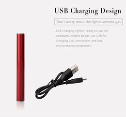 Chinese  Hot USB Charging Lighter environmental protection lady electronic cigarette lighter cigarette lighter With Gift Box 50pcs manufacturers