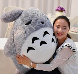 2018 japan presents 110cm Big Japan Anime Soft Plush Totoro Toy 43'' Giant Stuffed Anime Totoro Doll Kids Pillow Baby Present chea