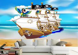 $enCountryForm.capitalKeyWord Australia - 3d room wallpaer custom mural photo Pirate boat children 's house wall painting 3d wall murals wallpaper for walls 3 d