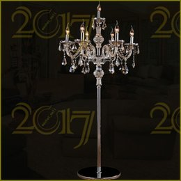 Luxury floor lamps online shopping luxury crystal floor lamps for sale wholesale 7heads crystal floor lamp cognac crystal lights stand lamp living room bedroom luxury candle floor lamp crystal aloadofball Image collections