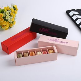 Color Cardboard online shopping - 0 ak Creative Macaron Boxes White Cardboard Color Offset Printing Biscuit Muffin Box Bronzing Gifts Cases Cookies Case Popular