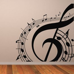 $enCountryForm.capitalKeyWord Canada - M-003 Free Shipping DIY Musical Notation Home Decor Music Wall Sticker Removable Vinyl Guitar Music Decal Babys Room Home Decoration