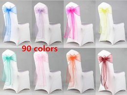organza bows for decoration Australia - Beautiful Organza Bows For Wedding Chair Sashes For Wed Events Supplies Party Decoration Chair Cover Sash Various Colors To Choose G079