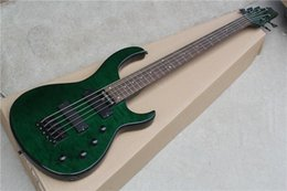 online shopping Hot Sale String Electric Bass with Dark Green Body and Frets and Can be Changed