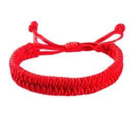 $enCountryForm.capitalKeyWord NZ - New Women Men Jewelry Handmade Waving String Bracelet Red Rope Chain&Link Bracelet Wrap Surf Bracelet Wristband