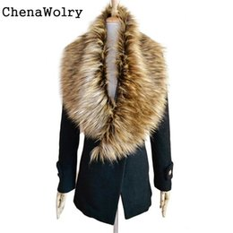 Fur Scarves Wraps Canada - Wholesale- Casual Luxury Women's Fashion Faux Fur Collar Scarf Shawl Collar Wrap Stole Scarves New Fashion Design Free Shipping Nov 15