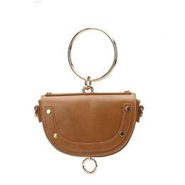 Vintage saddles online shopping - Made in China spring and summer new European and American wind ring saddle bag handbag oblique shoulder retro shoulder bag is on