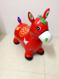 wholesale music plush toys NZ - Maccabees thick inflatable jumping horse jumping inflatable toy horse jumping deer inflatable children's toys, children's music free shippin