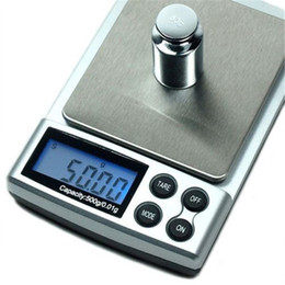 scale wholesalers NZ - hot sale newest Big Discount !!! 500g   0.01g Electronic Digital Jewelry scales Weighing Portable kitchen scales balance DS-19 Free shipping