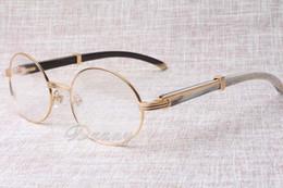 2017 neue Retro-Rahmen High-End-Mode gemischt Winkel Brille 7550178 männlichen und weiblichen Modellen runden Gläsern, Größe: 57-22-135mm