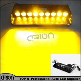 $enCountryForm.capitalKeyWord NZ - Amber 9 LED 3W LED Windshield Strobe Light Viper Car Flash Signal Emergency Fireman Police Beacons Safety Warning Light