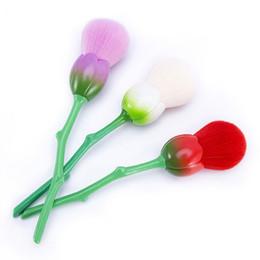 Flowers made hair online shopping - 3pcs Rose Shape Makeup Brushes Tulip Foundation Powder Make Up Brushes Professional Flower Brushes Set Beauty Blush Brush Tool