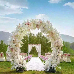 Garland wedding arch decor online garland wedding arch decor for sale 1 meter long artificial simulation cherry blossom flower bouquet wedding arch decoration garland home decor supplies junglespirit Choice Image