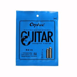 Guitar Bright NZ - Orphee RX15 6pcs Electric Guitar String Set (009-042) Nickel Alloy String Super Light Tension &Great bright tone