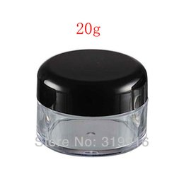 $enCountryForm.capitalKeyWord UK - 20g X 50 empty plastic cosmetic container, DIY skin care cream small pot bottle ,clear tin with black lid ,ear stud sample can