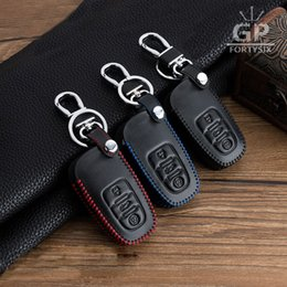 $enCountryForm.capitalKeyWord Canada - 10pcs lot Genuine leather Car Smart Remote Key Holder Case Cover For Audi A4 A6 RS4 A5 A7 A8 S5 RS5 8T Q5 S5 S6 Car Styling car key bag