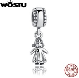 Chinese  Real 925 Sterling Silver My Little Girl Charm Fit Original Pandora Bracelet Necklace Authentic Luxury DIY Jewelry Christmas Gift manufacturers
