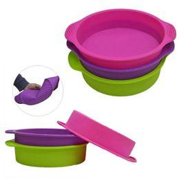 $enCountryForm.capitalKeyWord UK - 9 inch 28.5*24.5*6.2cm 175g DlY Round Shape 3D Silicone Cake Mold Baking Tools Bakeware Maker Mold Tray Baking