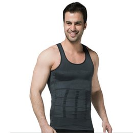 Barato Camisinha Shaper-Venda Por Atacado - New Invisible Body Shaper Bodysuit Slimming Underwear Elastic Vest Tumm Muscle Firdle Tightly Fitted Undershirt 8834
