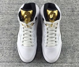 Cheap Boys Canvas Shoes Australia - new cheap 5 V SZ 13 Olympic White Gold Medal USA wholesale mens basketball shoes women sneakers 5s boy girl trainers