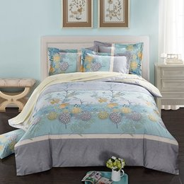 $enCountryForm.capitalKeyWord Canada - 40*40 133*72 reactive print bed sheet bed linen four pieces bedding set 100% cotton fabric,flower designs blue color car manting fangxiang