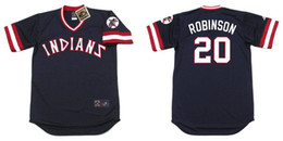 529da6962f2 ... 20 Frank Robinson Jersey Mens Cleveland Indians Frank Robinson Red Blue  Throwback Baseball Jersey Stitched Logos ...