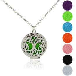 "$enCountryForm.capitalKeyWord Australia - Tree of Life Pendant Necklaces Essential Oil Diffuser Locket Necklace 19.69"" Adjustable Chain With 5pcs Color Refill Pads 3 Styles B416Q F"